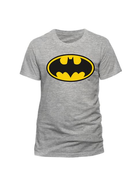 Klassisk Batman logo T-shirt til mænd, grå - DC Comics