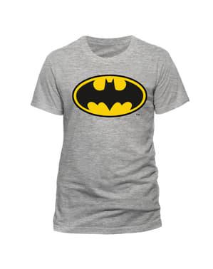 T-shirt Batman grå Classic Logga vuxen – DC Comics