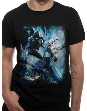 T-shirt Batman vs Bane vuxen - The Dark Knight Rises