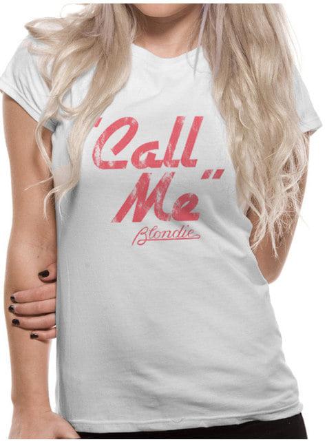 Call Me T-shirt voor vrouwen - Blondie