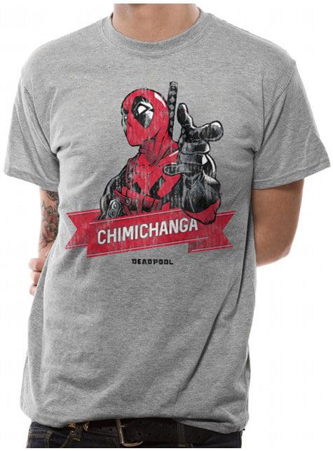 T-shirt Deadpool Chimichanga Point para homem