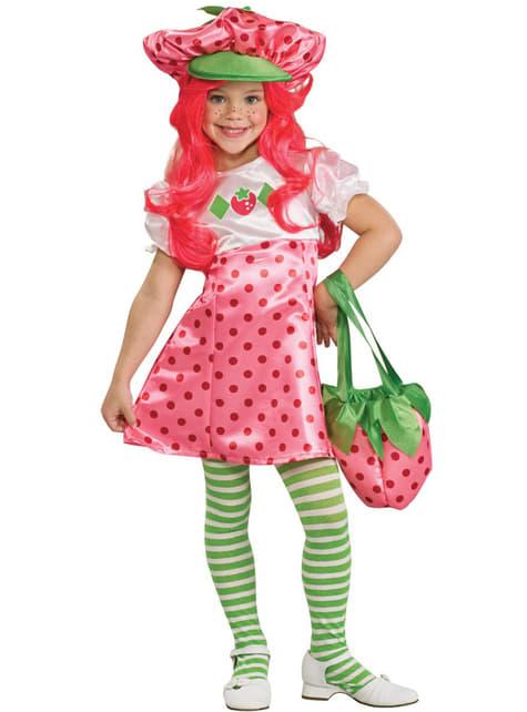 Déguisement de Charlotte aux fraises de luxe pour fille