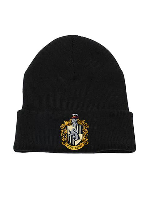 Hufflepuff Wappen Mütze für Erwachsene - Harry Potter