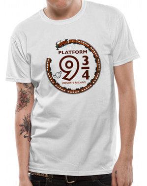 T-shirt Harry Potter Platform 9 3/4 vit vuxen