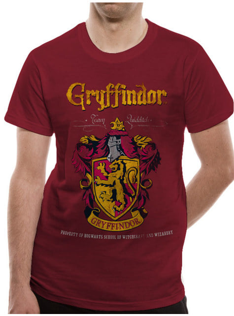 T-shirt Gryffindor Quidditch para adulto - Harry Potter