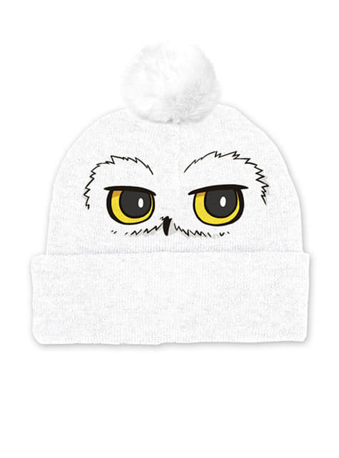 Hedwig beanie hat with pompom for adults - Harry Potter
