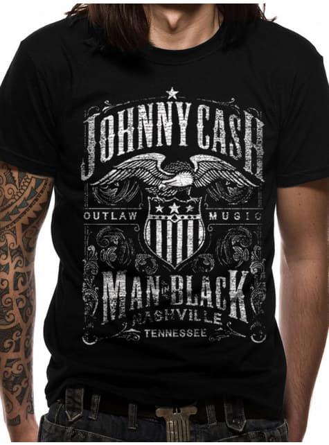 Johnny Cash Label T-Shirt til mænd