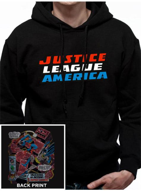 League of Justice Hoodie for Men in Black
