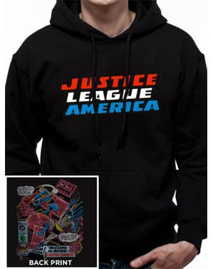 League of Justice Hoodie for Men in Black