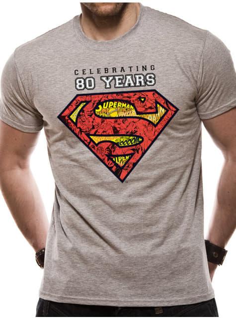 Teräsmies 80. Vuosipäivä -T-paita Miehille Harmaana
