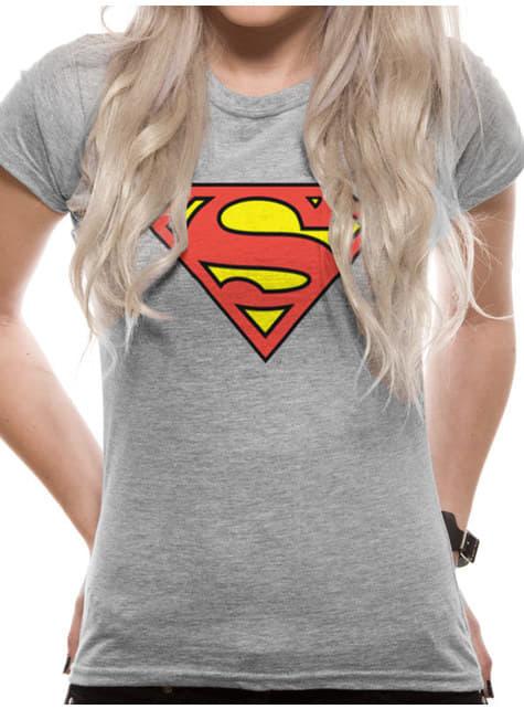 Classic Logo harmaa T-paita naisille - Superman