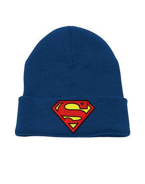 Sininen Logo pipo aikuisille - Superman