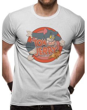 Tom og Jerry Logo Unisex T-Skjorte til Voksne