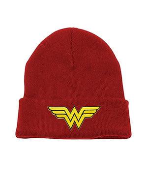 Punainen logollinen pipo aikuisille - Wonder Woman