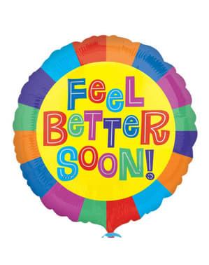 Balão de foil Feel Better Soon!