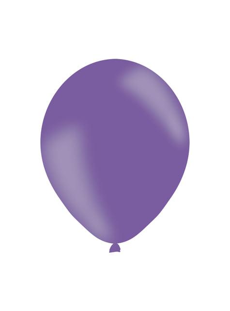 10 globos morados de látex (27 cm)