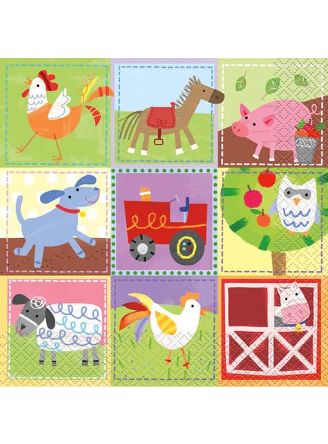16 serviettes - Farm Party