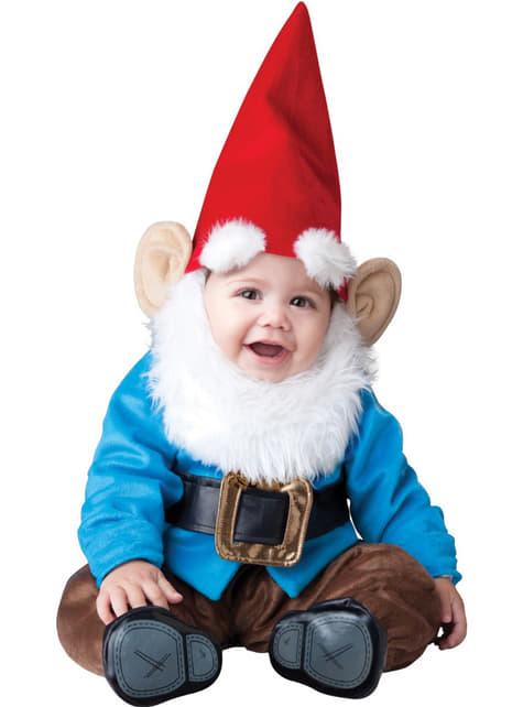 Costum de gnomul din mica grădină pentru bebeluși
