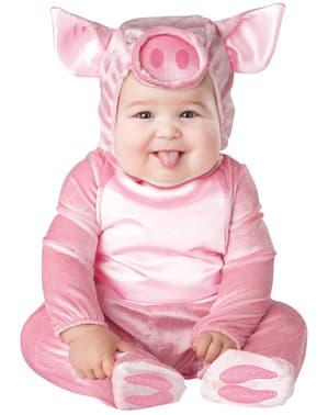 Бебешки костюм на розово прасе