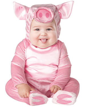 KIDS PIG FANCY DRESS COSTUME BABE PINK GIRLS BOYS CHILDRENS FARM ANIMAL OUTFIT