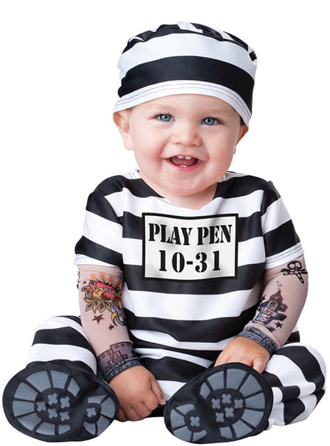 Fato de preso para bebé