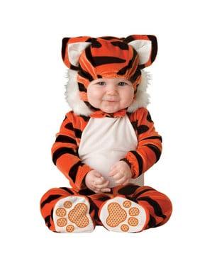 Fato de pequeno tigre para bebé