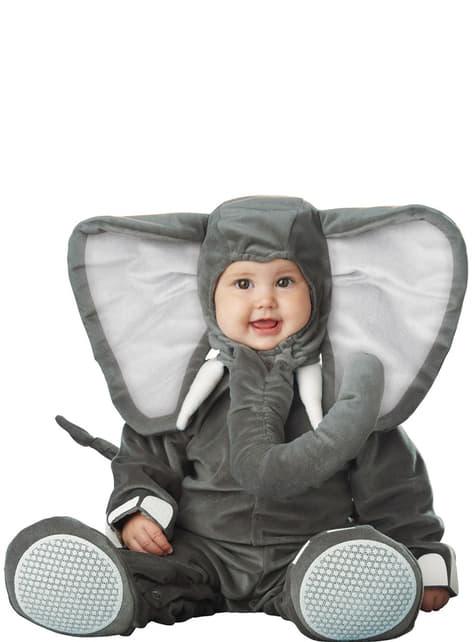 Fato de elefante cinzento para bebé