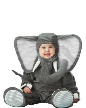 Бебешки костюм на сиво слонче