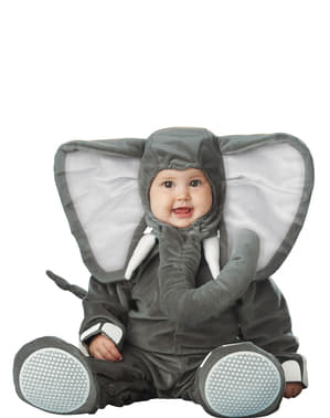 Grå Elefant Babykostyme