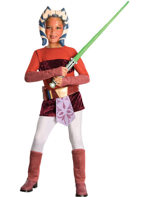 Fato de Ahsoka The Clone Wars deluxe infantil