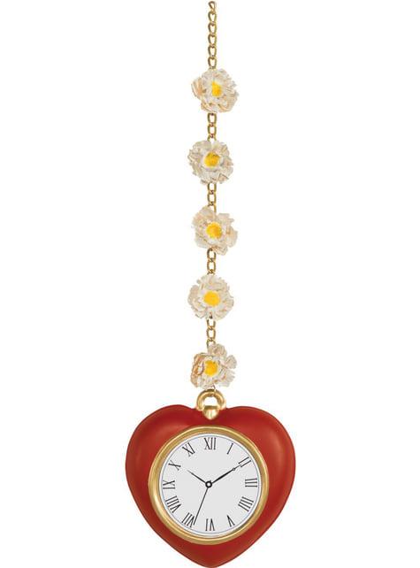 デイジーとハート型時計