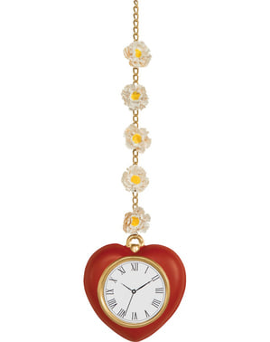 Heart-Shaped Watch with Daisies