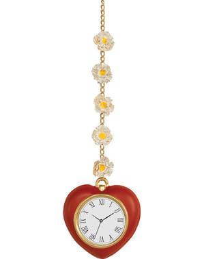 Relógio de coração com margaridas
