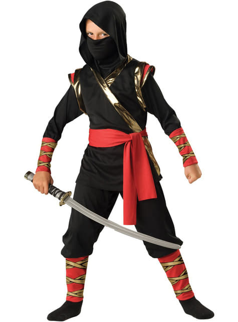 Chlapecký kostým ninja černý