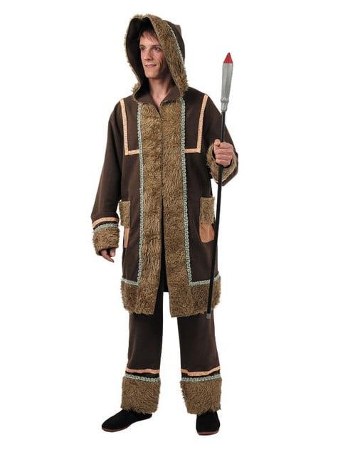 Manlig Inuit Maskeraddräkt Vuxen