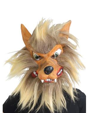 Mască de lup cu păr