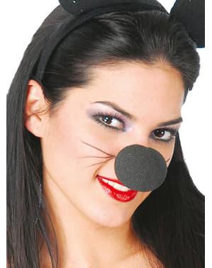 Zwarte neus van schuim