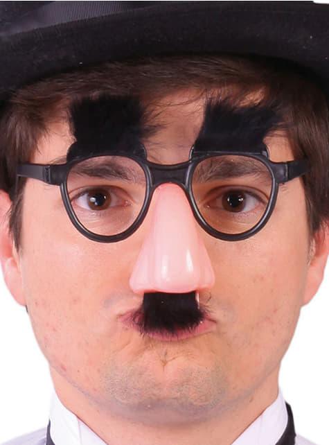 Nez avec des lunettes de Groucho Marx