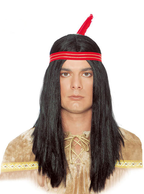 Indian Wig with Feather