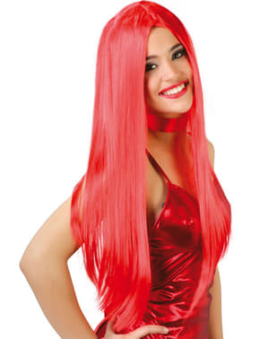 Parrucca capelli lisci rossa