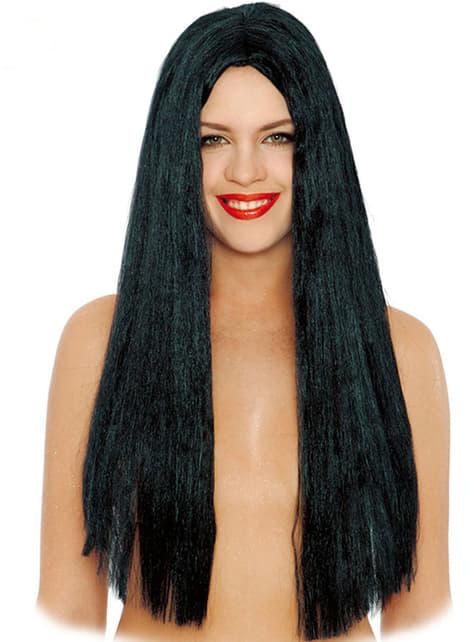 Paryk langt glat sort hår