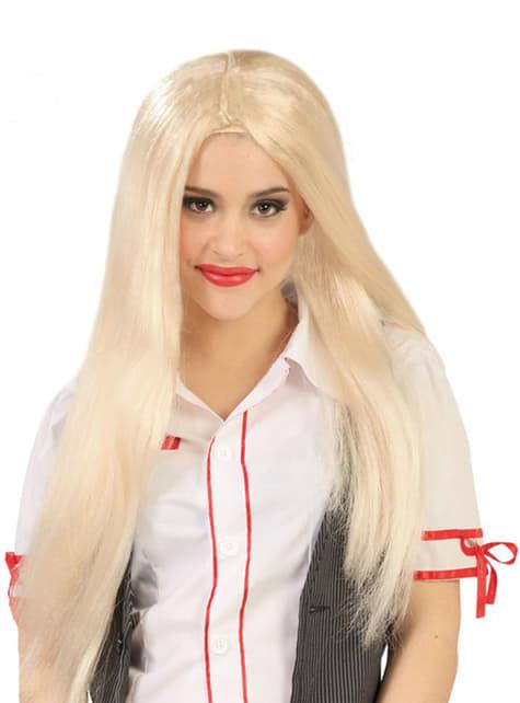 Perruque lisse longue blonde