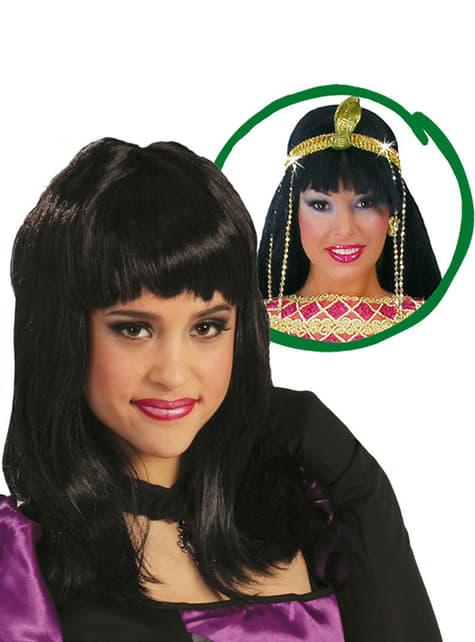 Cleopatra Peruk Svart