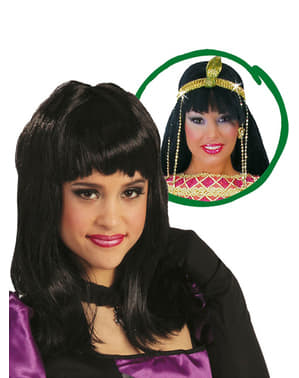 Sort Kleopatra paryk