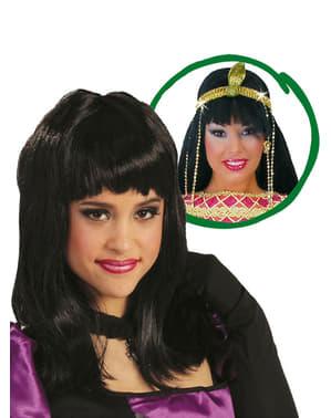 Svart Kleopatra Parykk