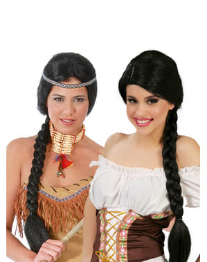 Black Wig with Braids