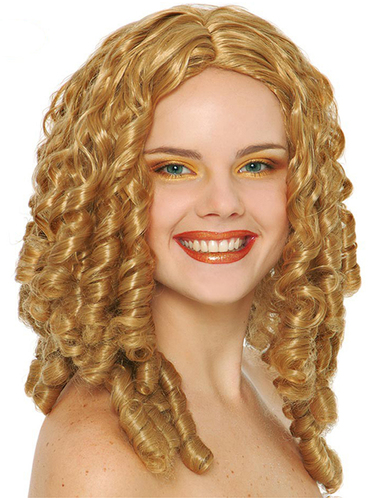 Long Blonde Wig With Ringlets Buy Online At Funidelia