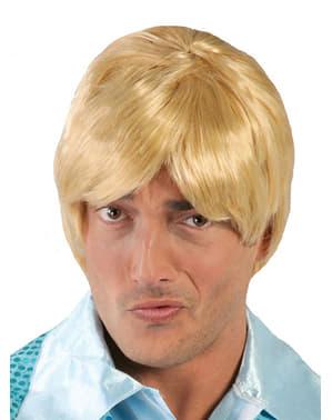 Blonde mannenpruik