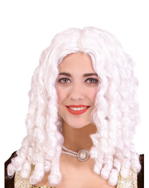 Parrucca con boccoli bianca