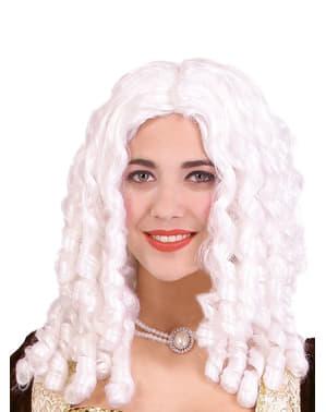 Perruque boucles anglaises blancs
